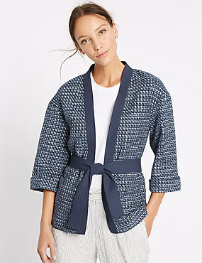 Cotton Rich Textured Wave Judo Jacket