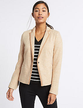 Textured Stretch Blazer