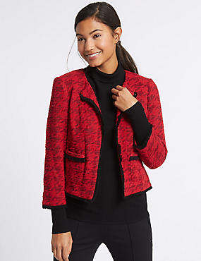 Cotton Rich Dogstooth Texture Jacket
