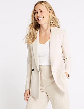 Double Breasted Blazer, NEUTRAL, catlanding
