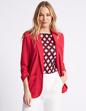 Patch Pocket Blazer, PINK, catlanding