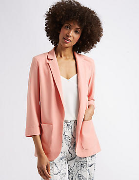 Patch Pocket Blazer, BLUSH, catlanding