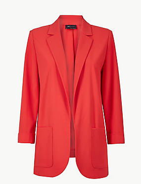 Relaxed Patch Pocket Blazer, BRIGHT RED, catlanding