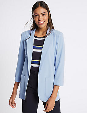 Patch Pocket Blazer, LIGHT BLUE, catlanding