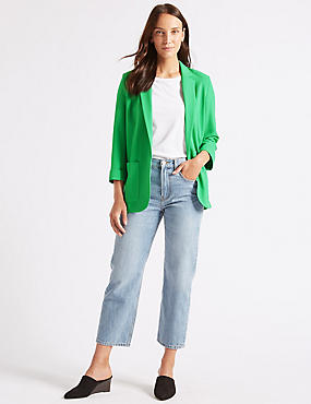 Patch Pocket Blazer, GREEN, catlanding