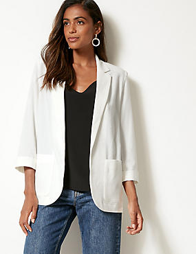 Patch Pocket Blazer, IVORY, catlanding