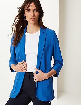 Relaxed Patch Pocket Blazer, AZURE BLUE, catlanding