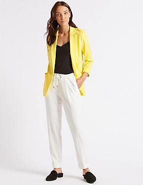 Patch Pocket Blazer, YELLOW, catlanding