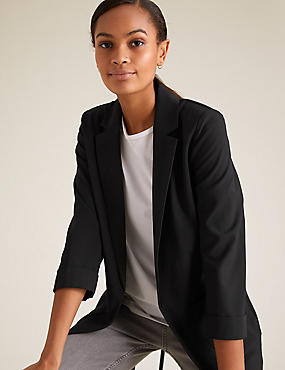 Patch Pocket Blazer, BLACK, catlanding