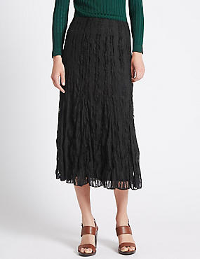 Crinkle Lace A line Skirt