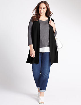 PLUS Open Front Longline Jacket