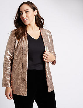 PLUS Sequin Blazer