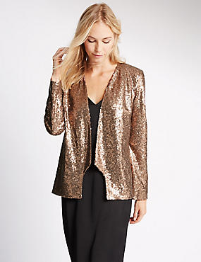 Long Sleeve Sequin Jacket