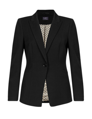 Peak Lapel 1 Button Blazer Clothing