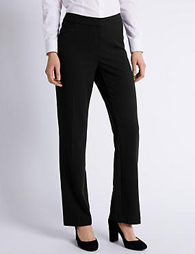 Staggered Seam Straight Leg Trousers