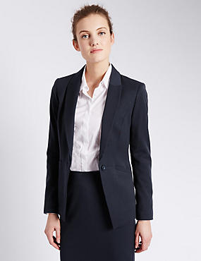 1 Button Welt Pocket Blazer
