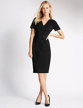 V-Neck Shift Dress