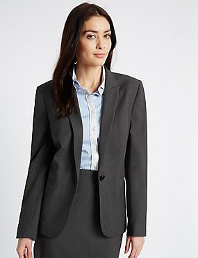 Seam Stitch Single Button Blazer