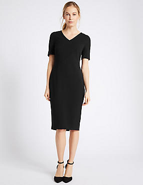 Angled Seam Shift Dress