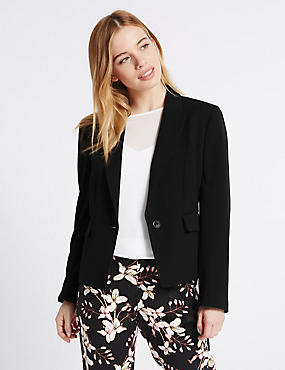 PETITE Panel Detail Short Jacket