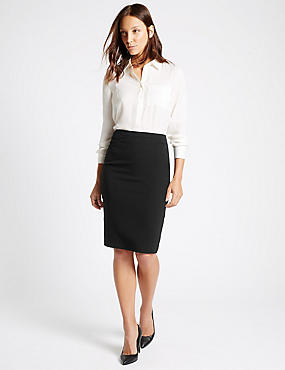 Panel Detailed Pencil Skirt