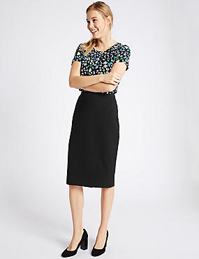 Wrap Pencil Skirt