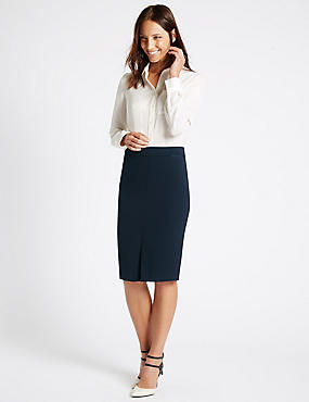 Grosgrain Trim Pencil Skirt