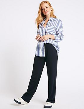 PETITE Slim Leg Trousers , DARK NAVY, catlanding
