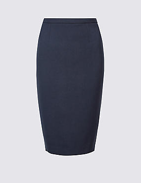 Tailored Fit Pencil Skirt, NAVY, catlanding