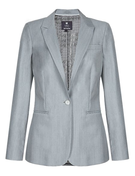 Pure Wool Tailored Jacket