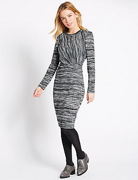 PETITE L Space Dyed Bodycon Dress