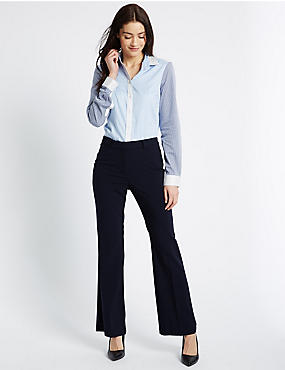 Slim Boot-Cut Trousers