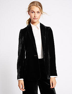 Velvet Single Button Jacket