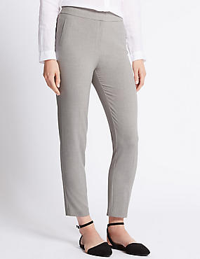 4-Way Stretch Tailored Fit Slim Leg Trousers