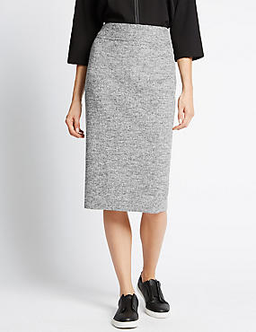 Pencil Skirt with Wool