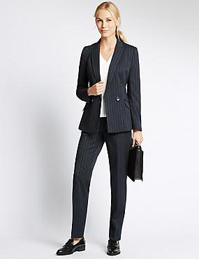 Double Breasted Pinstripe Jacket