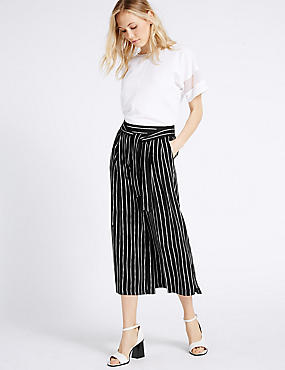Striped Cropped Culottes
