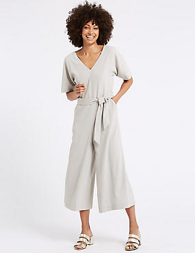 Kimono Half Sleeve Jumpsuit , LIGHT GREY, catlanding