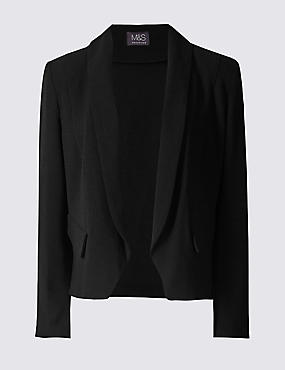 Cropped Crepe Jacket