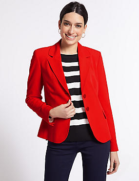 Single Breasted Blazer , RED, catlanding