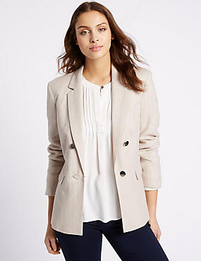 Linen Rich Gold Button Jacket
