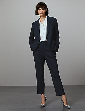 Slim Leg Trousers, NAVY, catlanding