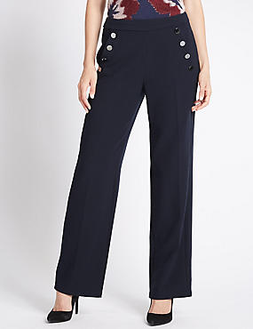 Wide Leg Sail Trousers