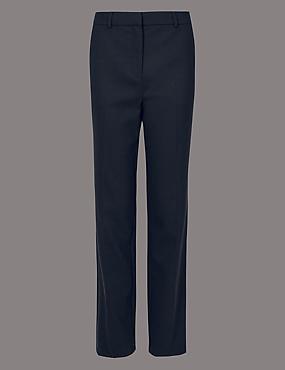 Straight Leg Trousers, NAVY, catlanding