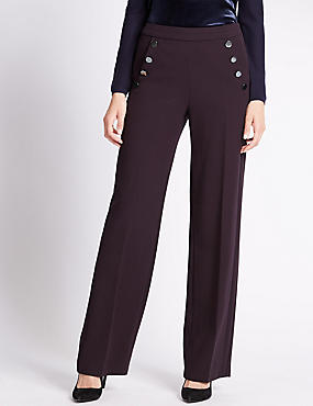 Wide Leg Double Sailor Trousers