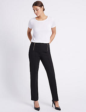 Pull On Skinny Leg Trousers