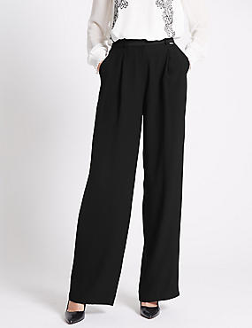 Roma Rise Wide Leg Trousers
