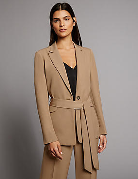 Twill Tailored Jacket with Belt