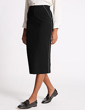 Panel Detail Pencil Skirt