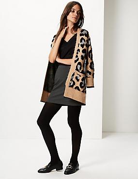 Jersey A-Line Mini Skirt, CHARCOAL, catlanding